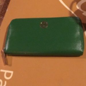 Authentic Green Tory Burch Wallet